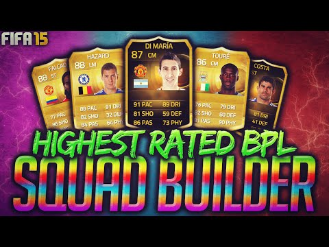 Fifa 15 Most Expensive Highest Rated Barclays Premier League Squad Builder Ultimate Team