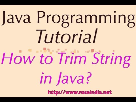 How to Trim String in Java?