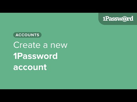 Create a new 1Password account