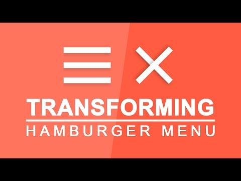 Transforming Hamburger Menu - Animated Toggle Menu Effect - Transforming Hamburger Icons Tutorial