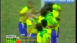 Argentina 2 Brasil 2 (2-4) Relato Juan Carlos Morales Copa America 2004 Los goles y penales