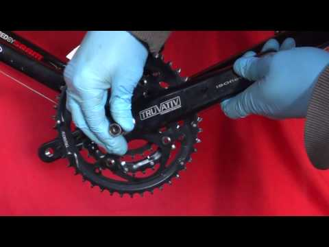 How to remove your cotterless bicycle crank both sides square taper power spline