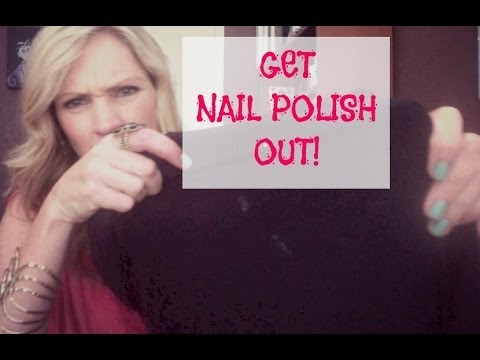 Getting Nail Polish Out of Clothes