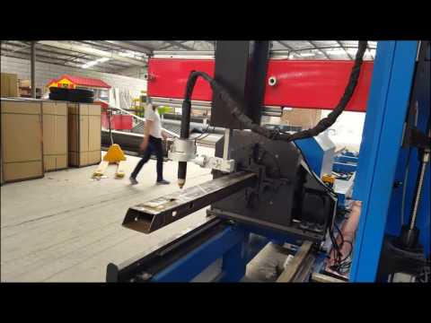 Square pipe plasma cutting machines , round pipe cnc plasma cutter machine