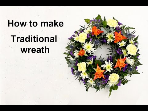 How to make a traditional wreath of flowers