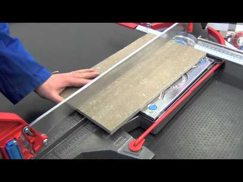 Cutting Porcelain Tile 14mm with manual tile cutter