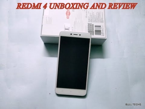 Xiaomi Redmi 4 unboxing and short review