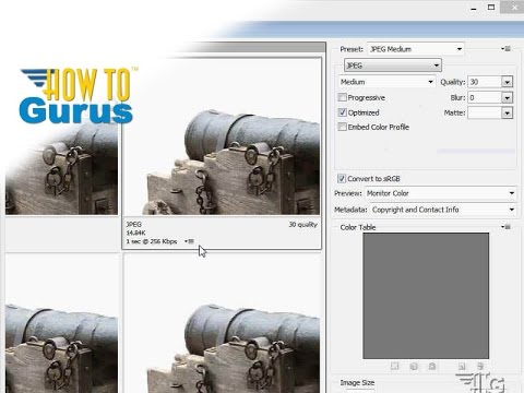 How to Save Images for the Web in Adobe Photoshop CS5 CS6 CC Tutorial