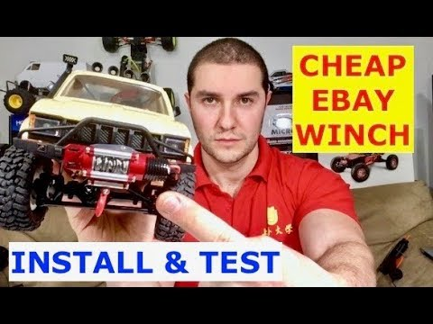 15 Dollar Full Metal Working Winch - Install and Test (will it pull?) For TRX4 or SCX10
