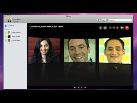 How to make a Skype audio conference call - Mac
