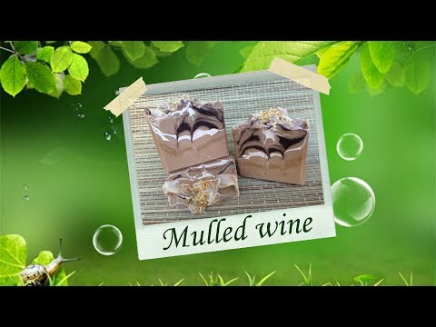 Mulled wine. Making wine soap, step by step instruction from Gentle Homemade Soap