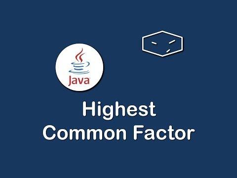 highest common factor in java