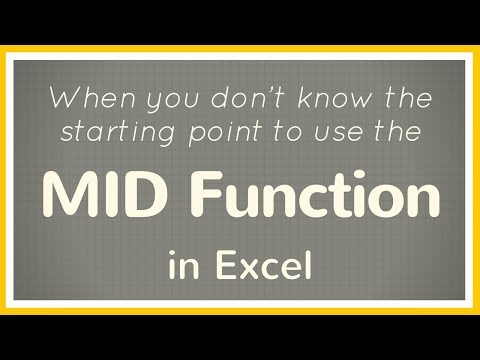 How to extract data in Excel cells using MID function when you don't know starting point - Tutorial