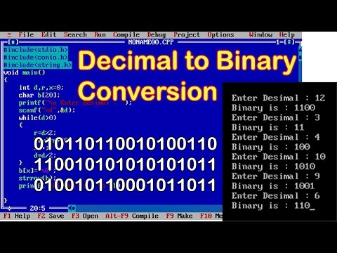 Decimal to Binary conversion in c using while loop