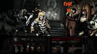 Darkest Dungeon - Gibbering Prophet Boss Fight (destroying Wooden Pews)