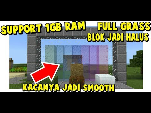 TEXTURE SIMPLE PALING KEREN GLASSNYA BERKILAU SUPPORT RAM 1GB- MINECRAFT PE INDONESIA