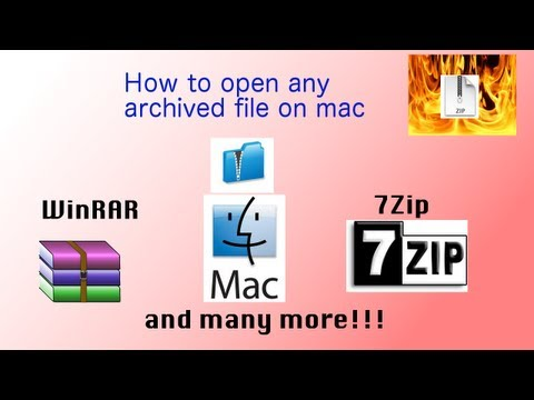 How to open WinRAR or 7Zip on Mac| iZIP |No internet downloads| sloppygoo3624