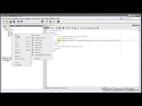 Creating Project in Netbeans | JavaScript