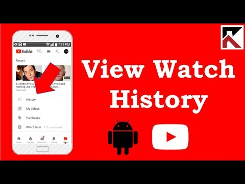 How To View Watch History YouTube Android 2018