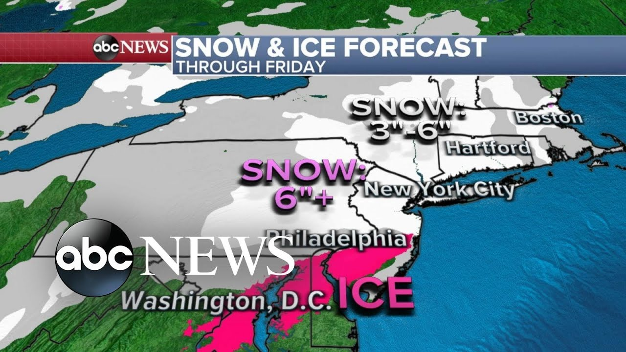ABC News Live Update: Winter weather slams the East Coast
