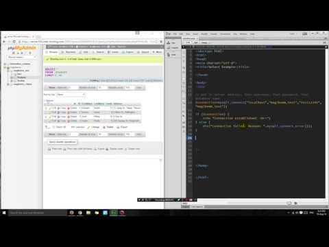 PHP tutorial: Display information from a MySQL database on a webpage