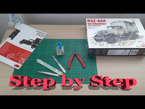 Step By Step: GAZ-AAA truck w/Shelter Miniart #35183 1/35