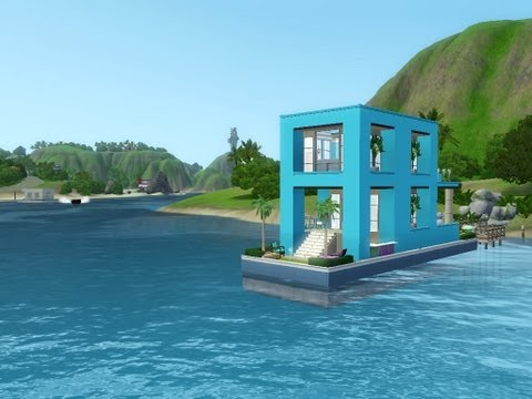 The Sims 3 - Island Paradise - Building a Houseboat - Blue Skylight