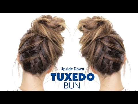 TUXEDO BRAID BUN Hairstyle ★ French Braid Hairstyles