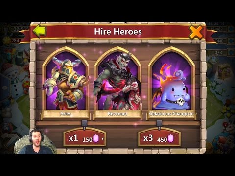 First Ever GEM Purchase INSANE Session Rolling 27k Heroes Castle Clash