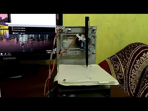 How to make Mini CNC plotter machine at home using Arduino, L293d Motor shield & old DVD drive