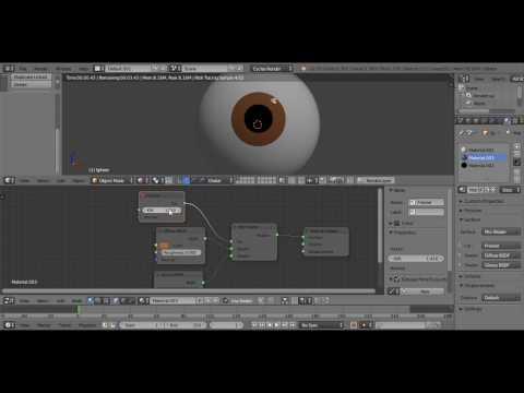 Cartoon eye in Blender.