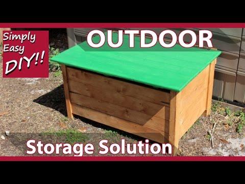 DIY Outdoor Storage Chest - KID SAFE