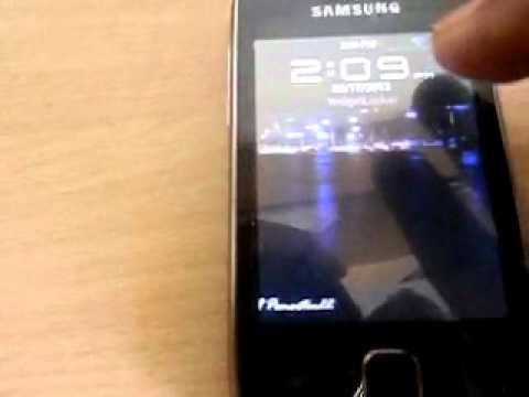 Widget locker on Samsung galaxy y
