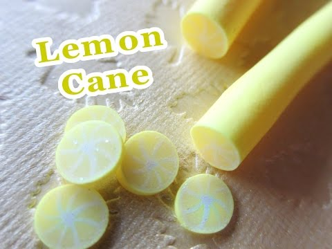 Lemon Cane Tutorial // Polymer Clay