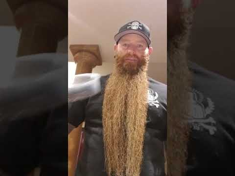 Tutorial for tying up a long beard
