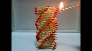 Amazing Fire Domino!!! - Artistic chain reaction with matches