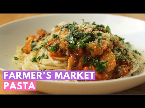 Farmer's market pasta: A delicious vegan and gluten free pasta recipe!