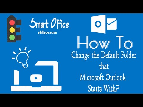 How to Change The Default Folder That Outlook Starts With.wmv