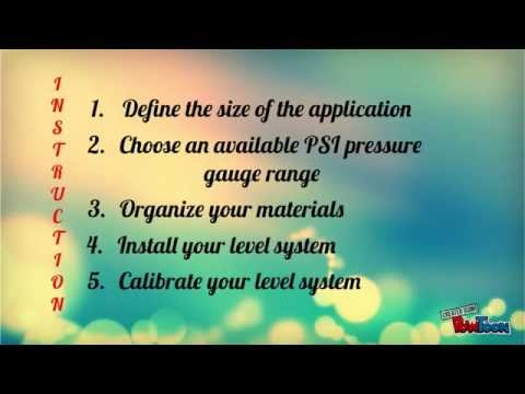 Using a PSI Pressure Gauge to Determine Water Tank Levels