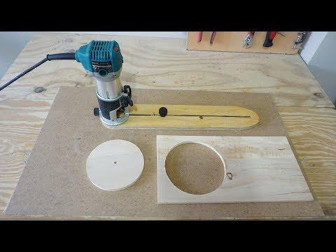 Adjustable Circle Cutting Jig For Trim Router - Daire Kesme Kılavuzu