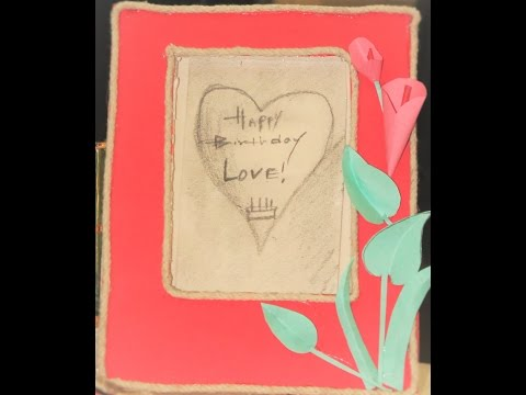 handmade photo frame by chart paper