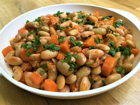 'ZEYTINYAGLI BARBUNYA' RECIPE - Cranberry Beans In Olive Oil - Easy To Make And Flavorful