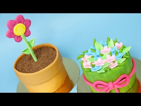2 Mini Mother's Day cakes! Easy cakes for Mother's Day