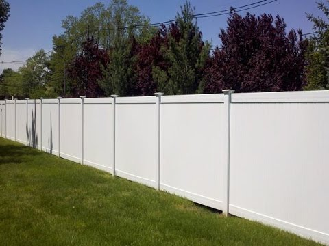 buiding a vinyl fence panel on slope