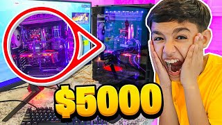 I Surprised My Little Brother With His Dream Gaming PC! He Freaks Out!