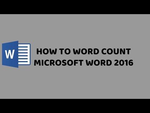 How To Word Count Microsoft Word 2016 | Tutorials Mircosoft Office Word 2016 - Hindi
