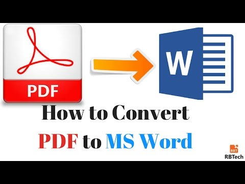How to Convert Easily PDF to MS word (Online & offline free)
