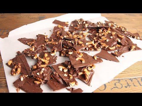 3 Ingredient Sea Salted Chocolate Pretzel Bark   Episode 1211