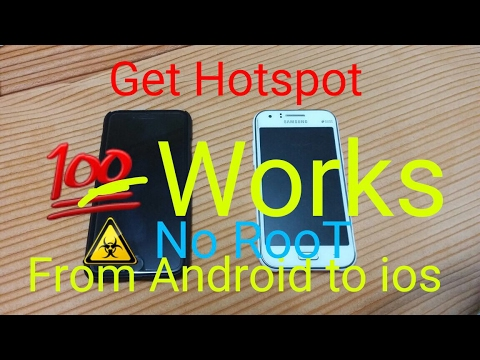 How Share WiFi Hotspot from Android To ios (Share internet)