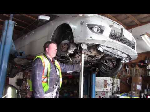 mazda 5 lower controal arm replace, lower ball joint replace